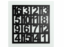 architecture & design: FIBONACCI NUMBERS II - 70 X 70 CM, ACRYLIC ON GLASS, 1200,00 EUROS