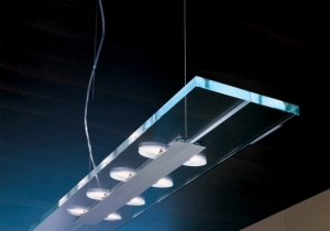 lighting: JEK 100 S-O, BRUSHED STELL EXTRA CLEAR GLASS, L100CM, D 22CM, G9 MAX 8X60W | OTY