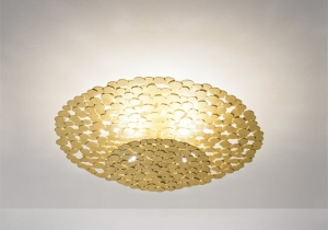 lighting: TRESOR CEILING LAMP-GOLD LEAF  Ø 60CM  6 X G9 LED | ARCHONTIKIS-TERZANI