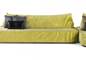 furniture: BALTIMORA MODULAR SOFA THANKS TO ITS MOVABLE BACKREST AND MULTIPLE SEATS, THE CASUAL-CHIC BALTIMORA SOFA FITS INTO ANY ENVIRONMENT. ORIGINAL AND CHARMING, IT OFFERS AN INFORMAL SITTING AND IS PARTICULARLY SUITABLE FOR CONTEMPORARY SETTINGS. | ARCHONTIKIS - ROBERTO CAVALLI
