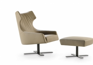 "furniture: ´GRACE`DESIGN UMBERTO ASNAGOGRACE IS CHARACTERIZED BY AN EMBRACING EXTERNAL ""SHELL"" AND A SOFT HEART OF GREAT COMFORT. AN IMPORTANT SEAT WITH GENTLE CURVES THAT EMPHASIZE THE OUTLINE AND DESIGN.. 