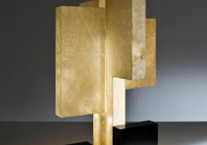 lighting: THE TABLE LAMP NOVECENTOTRENTA IS COMPOSED BY A DIFFUSER COVERED WITH GOAT PARCHMENT AND A METAL BASE WITH FOUR LED STRIPS WHICH ILLUMINATE THE DIFFUSER FROM INSIDE. | ARCHONTIKIS - LAURA MERONI