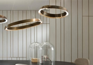 lighting: SWIRL IS A SUSPENSION LAMP MADE OF A THIN STRIP OF METAL IN SPIRAL FORM THAT GENERATES AN UPWARD MOVEMENT | ARCHONTIKIS - LAURA MERONI