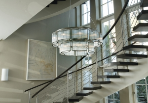 lighting: STILIO SHANDELIER: THE ARRANGEMENT OF THE GLASS RODS IS SO REFINED THAT THE LAMP NEVER GLARES. THE STILIO FAMILY EXCELLENTLY CREATES THE BRIDGE FROM A CLASSIC DESIGN TO MODERN LIGHTING TECHNOLOGY | ARCHONTIKIS - LICHT IM RAUM