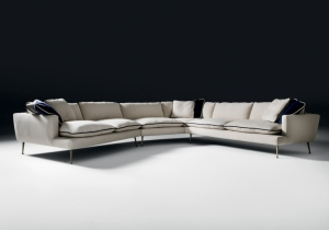 furniture: . ISLAND:MODULAR SOFA WITH STRUCTURE IN FIR AND POPLAR WOOD AND METAL.SEAT AND BACK CUSHIONS IN 100% EUROPEAN, CHANNELLED GOOSE FEATHER, 10% DOWN, CLOSED IN INDEPENDENT ROOMS, FILLING WITH CENTRAL INSERT IN MEMORY FOAM. | ARCHONTIKIS - BLACKTIE