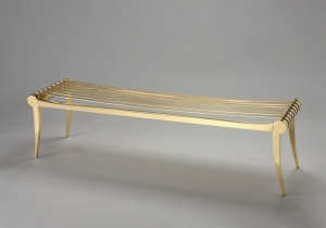 furniture: HÉRA DESIGN JEAN-LOUIS DENIOT.THE BENCH HERA WAS CREATED IN LINE WITH THE FURNITURE KLISMOS.MIROR POLISHED BRASS. 151 X 40 X H 40CM | POUENAT