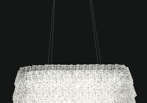 lighting: REGINA NEW NCS 227 OVAL CHANDELIER ∅ 73*45 CM - H. 40 CM + CATENA METAL + CRYSTAL 24*E14 AVAILABLE COVERINGS: GOLD, CHROME | ARCHONTIKIS - JAGO