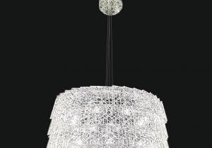 lighting: REGINA NEW NCS 222 CHANDELIER ∅ 50 CM - H. 38 CM + CATENA METAL + CRYSTAL 8*E14 | ARCHONTIKIS - JAGO
