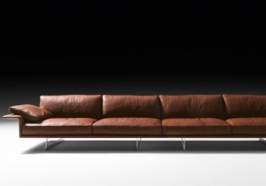 furniture: ALATO:MODULAR SOFA WITH STRUCTURE IN METAL, WITH ELASTIC BELT SPRING SYSTEM STRETCHED OVER A METAL FRAME. PADDING IN HIGH-RESILIENCE POLYURETHANE FOAM, UPHOLSTERY IN THERMO-BONDED FIBRE WITH STRETCH JERSEY. SEAT AND BACK CUSHIONS IN 100% EUROPEAN, CHANNEL | ARCHONTIKIS - BLACKTIE