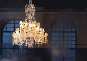 lighting: NERVOUS ZÉNITH CHANDELIERDIMENSIONS:  D 126CM,  H 124CM,   WEIGHT:48 KGR  26 X G9 LED OR 25WATT HALOGEN   PRICE: 150000 € | ARCHONTIKIS-BACCARAT
