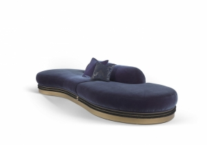 furniture: ALEXANDERA FURNITURE WITH A CONTEMPORARY DESIGN THAT OFFERS THE POSSIBILITY TO CREATE DIFFERENT COMPOSITIONS, ACCORDING TO THE AVAILABLE SPACE AND TO THE PERSONAL TASTES. UPHOLSTERED IN BLUE VELVET WITH TONE-ON-TONE PIPING | ARCHONTIKIS-GIANFRANCO FERRE