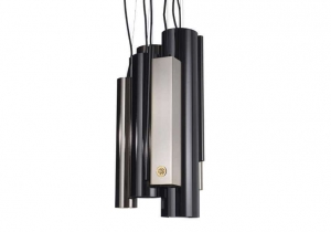lighting: ANTIGUA:METAL GLOSSY GOLD AND BLACK CHROME COMBINATED TOGHETER. | ARCHONTIKIS - ROBERTO CAVALLI