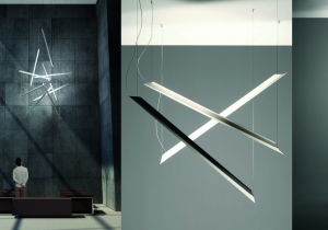 lighting: SCHEGGE SUSPENSION LAMP IN ALUMINIUM CM 160X5,5X6,5 | ARCHONTIKIS - KNIKERBOKER