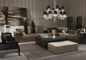 furniture: FLAIR:REFINEMENT, LUXURY, SENSUALITY IN THE FLAIR SOFA. LEATHER MEET THE PRECIOUS AND SOPHISTICATED TAILORING. THE RESULT IS A FURNITURE WITH A COMFORTABLE AND ULTRASOFT ELEGANCE SUITABLE FOR ANY ENVIRONMENT | ARCHONTIKIS-GIANFRANCO FERRE