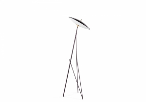 lighting: LAPA FLOOR LAMP WITH STRUCTURE IN METAL WITH BLACK CHROME FINISHING. SHADE IN WHITE OPALINE GLASS WITH TOP IN METAL WITH BLACK CHROME FINISHING. LED LIGHT. | ARCHONTIKIS - GIANFRANCO FERRE HOME