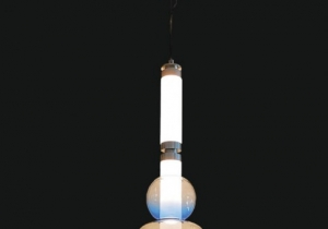 lighting: METEORA LCS 050/L      SUSPENSION     ∅ 30 CM H. MAX 145 CM     METAL + GLASS     4X6 W     AVAILABLE COVERINGS:      METAL PARTS: GOLD AND CHROME      SPHERES: COLORED | ARCHONTIKIS - JAGO