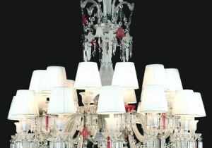 lighting: BACCARAT REGINA NCS 224/WS CHANDELIER ∅ 110 CM - H. 120 CM + CATENA METAL + CRYSTAL 24*E14 | ARCHONTIKIS - JAGO