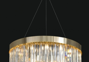 lighting: IMPERIAL NCS 269 CHANDELIER Ø 90 CM - H. 35 CM + CAVI METAL + CRYSTAL | ARCHONTIKIS - JAGO