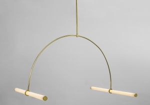lighting: 01.FABRICATED WITH LED – ILLUMINATED ACRYLIC TUBES AND HELD TOGETHER BY BRASS RODS AND CONNECTED WITH THREADED BRASS RINGS | ARCHONTIKIS - NAAMA HOFMAN
