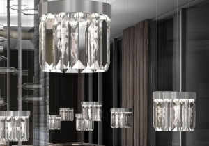 lighting: MASTRPIECE SERENE BY WINDFALL - LALIQUE CRYSTAL PRISMS. DIA:22, 36, 56 OR 72CM H:34CM | ARCHONTIKIS-WINDFALL