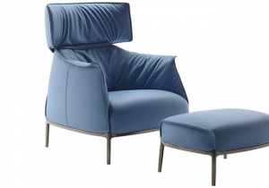 furniture: ARCHIBALD KING.THE ICON CHAIR CREATED BY JEAN-MARIE MASSAUD TODAY GOES ROYAL: ARCHIBALD KING IS HERE. IMPORTANT, MAJESTIC, FIT FOR ROYALTY. A DISTINGUISHING LARGE HEADREST TAKES UP ON THE ELEGANT FOLDS OF THE BACKREST FEATURED THROUGHOUT THE COLLECTION. | POLTRONA FRAU