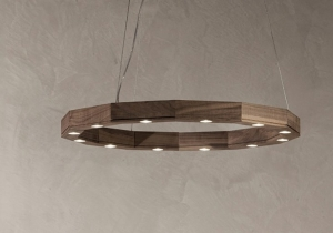lighting: DODICI NATURAL WALNUT BLOCKS- DIA:50 CM | ARCHONTIKIS - P.PRIVATA