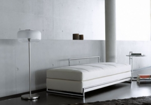furniture: DAY BED, EILEEN GRAY 1925,THE DAY BED IS RIGHTLY COUNTED AMONG THE MOST FAMOUS DESIGNS BY EILEEN GRAY. | CLASSICON