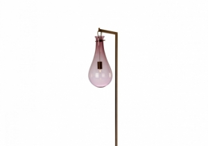 lighting: DROP: THE ORGANIC SHAPE OF THE DROP, CAN BE TRANSPARENT OR SANDED AND CAN RECEIVE A LARGE NUMBER OF COLORS. THE ASSOCIATION WITH BRASS, IN FINISHES CHROME-PLATED, BRONZE, NICKEL BRUSHED AND COPPER-COLORED, BRINGS A PARTICULAR VISUAL CHARM. | VERONESE-ARCHONTIKIS