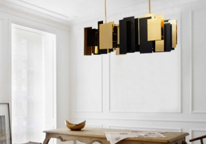 lighting: FO-TAN: AN ASSORTMENT OF GOLD PLATED BRASS, GLOSSY AND MATTE LACQUERED ELEMENTS. WITH A FEW GOLDEN DETAILS, SOME ELEMENTS WILL BE A MIRROR WHERE THE LIGHT WILL SHINE WARMTH INTO YOUR PRIVATE AND MODERN INTERIOR DECOR. 101 X 41 X H 76CM | ARCHONTIKIS-CM