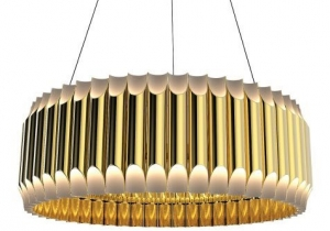 "lighting: ""GALLIANO ROUND SUSPENSION\"" BY DELIGHTFULL HEIGHT: 40 CM, DIAM.: 80 CM 