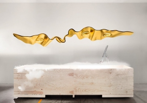 lighting: CUSTOMAD GOLDEN RIBBON | ARCHONTIKIS - INGO MAURER