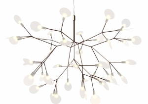 lighting: HERACLEUM D 70CM - COPPER - 45 X 0,3W LED WARM WHITE | ARCHONTIKIS - MOOOI