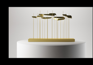 "lighting: ANODINE TABLE: A TABLE LAMP THAT TRANSFORMS LIGHT INTO A SCULPTURE EVOKING THE CONCEPT OF ""SHAPE NON SHAPE"" CONJURED BY THE LIGHT, WHICH ADDS AN ARTISTIC TOUCH TO THE AMBIENCE.100 X 24 X H 68CM, 39W LED 