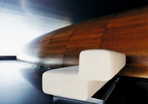 furniture: JUNO SOFA, NORWAY SAYS 2003.THIS SOFA IS LIKE THE TRAILBLAZING JAZZ COMING OUT OF NORTHERN EUROPE: SENSUAL, CLEAR AND UNPRETENTIOUS. BASE OF CHROMIUM-PLATED STEEL. COVER OF FABRIC OR LEATHER. 220 X 62 X H 66CM | CLASSICON