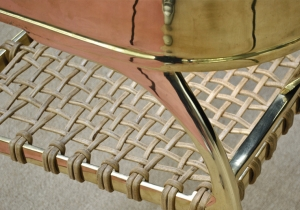 furniture: KLISMOS LOWBACK CHAIR - BRASS DETAIL.