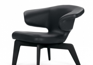 furniture: MUNICH LOUNGE CHAIR, SAUERBRUCH HMODERN ART OF THE 20TH AND 21ST CENTURIES DESERVES AN APPROPRIATE SETTING, WITH A BUILDING AND ITS FURNITURE THAT IS JUST AS MODERN. FRAME OF SOLID WOOD, CLEARLY VARNISHED OR BLACK-STAINED.COVER IN FABRIC OR LEATHER. 96 X  | CLASSICON