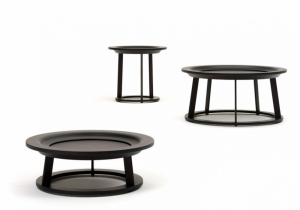 furniture: OBI, BY BLOWING UP THE ARCHETYPICAL SHAPE OF THE BALINESIAN OFFERING DISH RODERICK VOS CREATED A SERIES A PLAYFUL COFFEE TABLES. THERE'S A MATCHING TABLE FOR EACH OCCASION. | LINTELOO