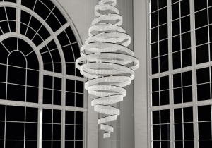 lighting: BESPOCE CHANDELIER SWIRL, FOR A PRIVATE RESIDENCE IN JAKARTA | ARCHONTIKIS-WINDFALL