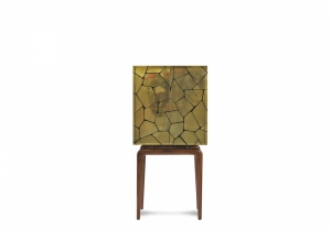 furniture: CINZANO CABINET - BRASS/MAHOGANY